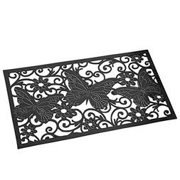 Collections Etc Decorative Butterfly Scroll Heavy Duty Rubbe