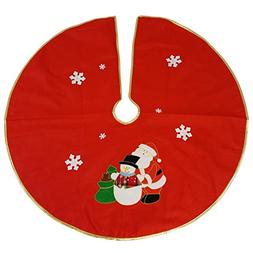 Violet Linen Decorative Christmas Santa Applique Design Red