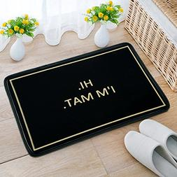 Decorative Doormat with Hi I'm Mat printed for Home/Office/B