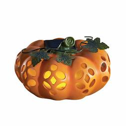 Decorative Fall Pumpkin Solar Yard Decoration