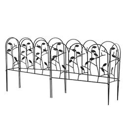 Amagabeli Decorative Garden Fence Coated Metal Outdoor Rustp