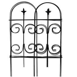 Amagabeli Decorative Garden Fence 32in x 12ft Fencing Rustpr