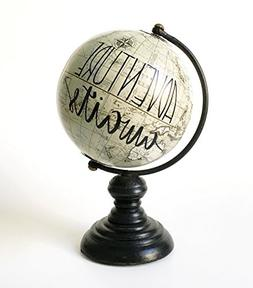 "Decorative Globe 7"" Globe Adventure Awaits Globe Wedding Cak"