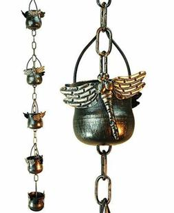 Decorative Iron Dragonfly Rain Chain