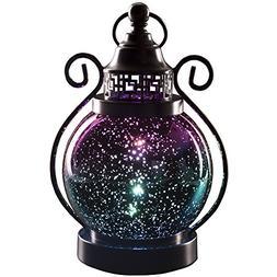 V&M VALERY MADELYN Decorative Candle Lanterns,Mercury Glass