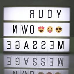 Decorative Letter LED Lightbox with 90 letters and symbols,