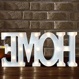 BRIGHT ZEAL Decorative LED Marquee Sign HOME -Light Up Home