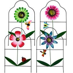 Gift Boutique Decorative Painted Metal Garden Fence 4 Pack F