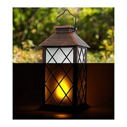 """ONO-Tech 13"""" LED Decorative Solar Powered Vintage Style Cand"""