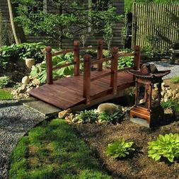 decorative wood home garden pond yard arch