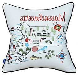 DecorHouzz Pillow Covers Massachusetts Pillowcase embroidere