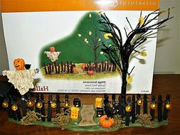 DEPARTMENT 56 Snow Village Halloween Spooky Yard Scene 56-53
