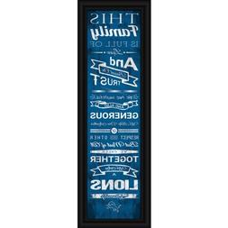 "Detroit Lions Family Cheer Print 8""x24"