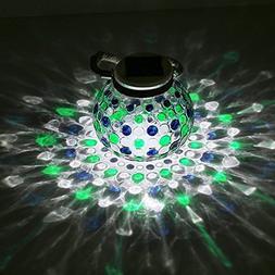 Solar Jar Light Diamond Glass Ball Led Garden Lights Solar T