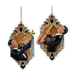 Kurt Adler Deco & Diamonds Jazz Musician Ornaments