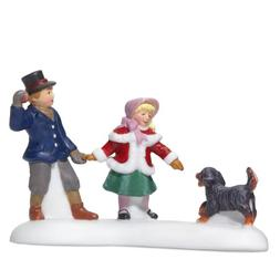 Department 56 Dickens' Village Playing With A Puppy Accessor