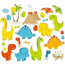 Dino Friends Dinosaurs Vinyl Wall Decals Kids Boys Bedroom N