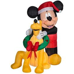 Gemmy Disney 5 Ft. Mickey Mouse and Pluto Christmas Inflatab