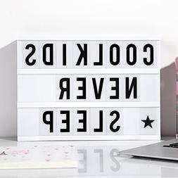 Comfy Mee DIY Cinema Light Box With 96 Letters-Free Combinat