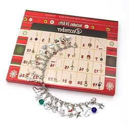 DIY Toys Advent Calendar Charm Necklace Bracelet Made with D
