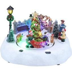 "Holiday Time 5"" Doggie Parade Scene Christmas Village"