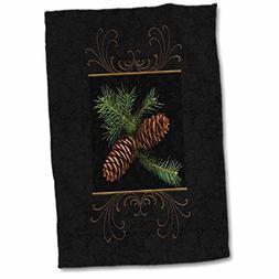3dRose Doreen Erhardt Christmas Collection - Rich black dama
