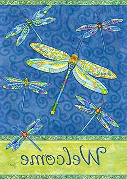 dragonfly flight spring house flag