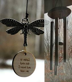 Dragonfly Memorial I am Near Best Sounding Wind Chime in mem