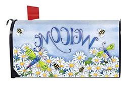 Dragonfly Welcome Summer Magnetic Mailbox Cover Daisies Drag