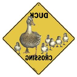 Crossings Duck Crossing Sign, Caution Yellow, 12 x 12