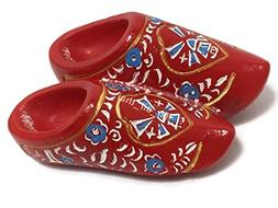 Dutch Holland Red Wooden Shoes SOUVENIR RESIN 3D FRIDGE MAGN