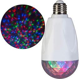 Gemmy E26 LED Projection Kaleidoscope Multi Color Light Bulb