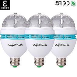 YouOKLight 3-Pack E26 Full Color Rotating Lamp LED Strobe Bu