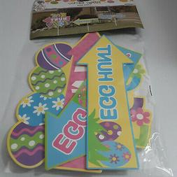 EASTER ~ 3 Piece Egg Hunt Yard Signs Party Decorations with