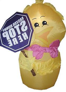 6' Easter Chick Airblown Inflatable