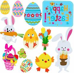 Easter Decorations Outdoor, 12 pcs Bunny Chick Eggs, Yard Si