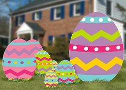 Amscan Multicolored Easter Eggs Corrugated Signs, 5 Ct. | Pa