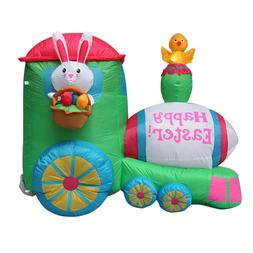 Easter Inflatable Bunny Train Decoration, Outdoor Holiday Ra