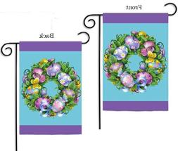 Easter Wreath Garden Flag