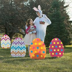 Easter Yard Decorations, Whimsical Large Jumbo Garden Egg Si