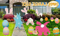 MISS FANTASY Easter Yard Signs Decorations Outdoor 24PCS Eas