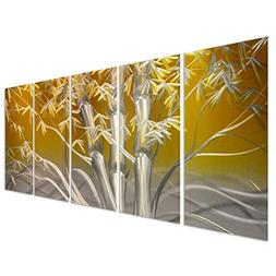 Pure Art Eastern Sunrise Forest Decoration - Large Yellow Me