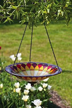 Evergreen Enterprises EG2GB218 Tiffany Hanging Glass Bird Ba