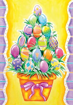 Toland Home Garden  Egg Stack 12.5 x 18-Inch Decorative USA-