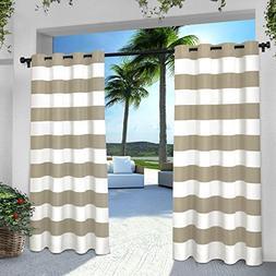 Exclusive Home Curtains Indoor/Outdoor Stripe Cabana Grommet