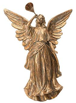Elegant Antique Gold Angel Blowing Horn Wall Hanging Christm