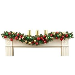 "Elegant Holiday Ornament Garland 65"" Long"