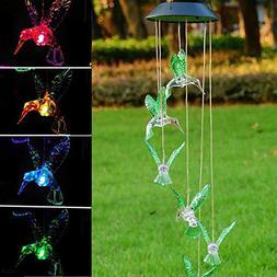 Triprel Inc Elegent Solar Color Changing LED Hummingbird Win