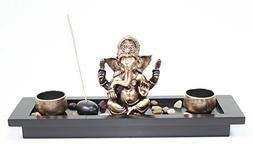 Elephant Ganesha Zen Garden Rocks Incense Burner Candle Hold