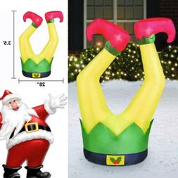 🎄Holiday Time Elf Legs Inflatable 🌟3.5 FT TALL🌟